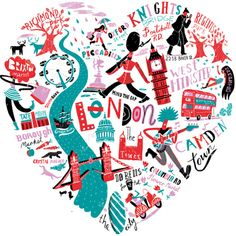 Migy - illustrative london print. Reminds me of paperchase :)