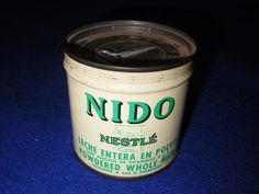 Nestle Powdered Nido Can Tin 1950s-60s. Made in New York