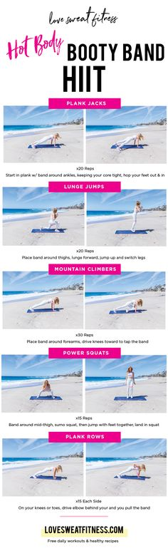 booty band hot body blast, booty bands, loop resistance bands, resistance bands, workout printables, at home workouts, workouts for women, booty workouts, resistance workouts