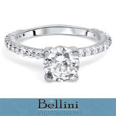 1 07 Ct Round Cut Diamond Engagement Ring 14k White Gold   eBay