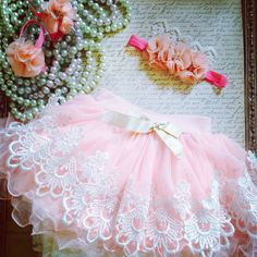 Items similar to Victorian lace and tulle Baby girls pettiskirt. Great for Easter, birthdays, photo shoots and special occasion. Peachy pink color tulle on Etsy Baby Tutu, Baby Girl Newborn, Baby Dress, Baby Girls, Wedding Dresses For Kids, Girls Party Dress, Little Girl Dresses, Baby Clothes Patterns, Baby Kids Clothes