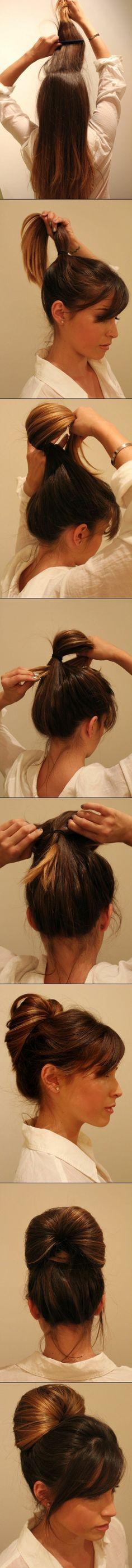 elegante frisur für lange haare - wie wird sie gemacht
