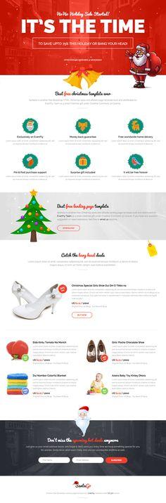 Christmas Gift Responsive HTML Christmas Landing Page #christmasgift #responsivetemplate #html5template #landingpage #freebie