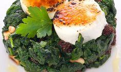 Receta de Espinacas mediterráneas Tostadas, Avocado Toast, Mashed Potatoes, Yummy Food, Breakfast, Ethnic Recipes, Arrows, Stir Fry, Dishes