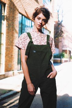 High Quality Corduroy Dungarees, Moss Green 'The Original' Handmade Dungarees Independently Designed in the UK by Lucy and Yak for Women and Men 100% Cotton