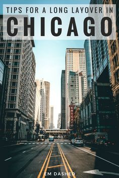 Traveling from O'Hare airport to the city, how to store your luggage, and what to see and do during a long layover in Chicago, Illinois. Travel in North America.