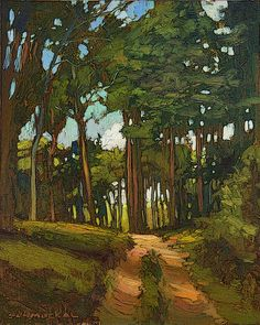 Mission Arts and Crafts Matted Giclee - Pine Trees Artist And Craftsman, Craftsman Style, Craftsman Artwork, Craftsman Interior, Arts And Crafts Movement, Art And Craft Videos, Arts And Crafts House, Photos Du, Landscape Paintings