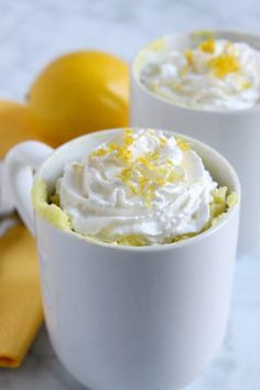 Easy to make Lemon Cheesecake Mug Cake! Two and a half minutes in the microwave and you have sheer bliss! You will want to keep making it over and over! Chocolate Hazelnut, Chocolate Recipes, Healthy Chocolate, Lemon Mug Cake, Sweet Spice, Clean Eating Desserts, Lemon Cheesecake, Pumpkin Cheesecake, Angel Cake