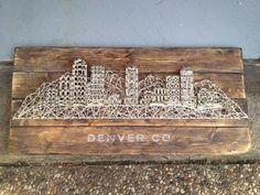 Denver Skyline string art.
