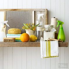 Whip up your own homemade cleaners that are easy on your wallet and on the earth. Get our recipes for homemade air freshener, laundry detergent, laundry rinse aid, upholstery-freshening spray, all-purpose cleaner, and window /
