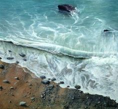 Shoreline Surf by British Contemporary Artist Ceri Auckland Davies