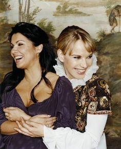 Anna Netrebko as Juliet and Elina Garanca as Romeo in Bellini's opera.