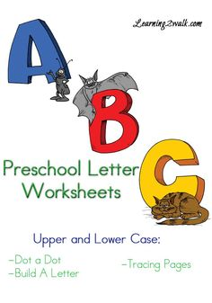 Preschool Letter Worksheets. Repinned by SOS Inc. Resources pinterest.com/sostherapy/.