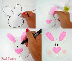 Easter Crafts Ideas Para Hello Kitty Decorated Notebooks Dates Loose Pants Birthday Souvenir Easter Bunny Rabbits Bunny Crafts, Easter Crafts For Kids, Happy Easter, Easter Bunny, Birthday Souvenir, Diy And Crafts, Paper Crafts, Bunny Birthday, Diy Ostern