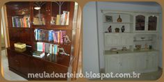 Lar de arteira: Estante com pátina provençal - o antes e depois   http://lardearteira.blogspot.com.br/2012/11/antes-e-depois-da-restauracao-de-estante.html