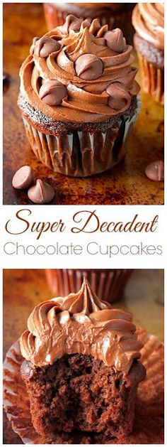Super Decadent Chocolate Cupcakes | Posted By: DebbieNet.com
