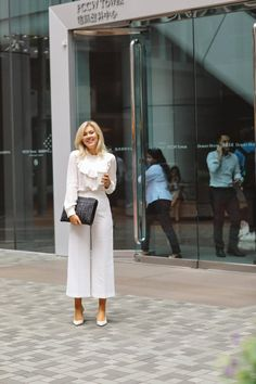 Staying Youthful Even As You Get Older Work Fashion, High Fashion, Womens Fashion, All White Outfit, White Outfits, Stylish Outfits, Cool Outfits, Professional Attire, Office Looks