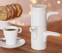 Bayreuther Kaffeemaschine - Kein Filterpapier oder Metallsieb notwendig für reinstes Kaffee-Aroma