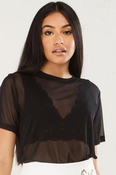 Mesh Short Sleeve To