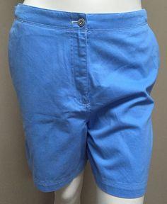NWT Ralph Lauren Women's Blue Key West Cotton Summer Shorts 8 | eBay