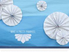make a pretty paper pinwheel