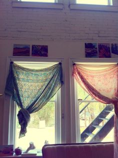 Scarves make the best DIY curtains!