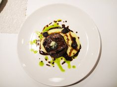 A profound Apocalypse of a modern gastronomic trip to Greece. Blue Potatoes, Beef Fillet, Potato Puree, Gnocchi, Butter, Restaurant, Dishes, Kitchens, Filet Of Beef
