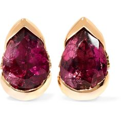 Fernando Jorge Bloom 18-karat rose gold, diamond and tourmaline... ($1,535) ❤ liked on Polyvore featuring jewelry, earrings, accessories, rose gold, 18k earrings, rose gold diamond earrings, 18k rose gold jewelry, diamond earrings and rose gold earrings