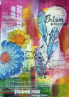 Susanne Rose - Papierkleckse: Art Journal Page                                                                                                                                                                                 More