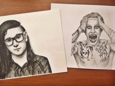 4years progress 😄 2013 Skrillex (charcoal) 2017 Joker (pencil) Do you see some progress? Am I becoming a better artist? 😄  #draw #drawing #worldofartists #arts_gallery #pencildrawing #artistlife #artsy #art #artist #sketch #sketchbook #instagood #portrait #portraitmood #tag_artist #worldofpencils #arts_help #arts_secret #art_sanity #gallery #sketchdaily #gallery #me #instamood #drawings #skrillex #joker #suicidésquad #leto #charcoal #charcoaldrawing