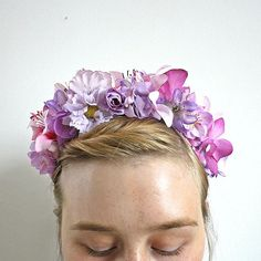 Flower Headband / Floral Headband / Floral headcrown / Flower crown