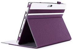 Folio Stand Case for New Surface Pro Pro 3 w/ Type Cover Keyboard Surface Pro 4 Case, Microsoft Surface Pro 4, Selfie Stick, Computer Accessories, Keyboard, Purple, Cover, Camera Bags, Tablet Cases