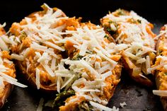 Twice Baked Sweet Potatoes by theyearinfood ---I find this disgusting but thought you'd like it