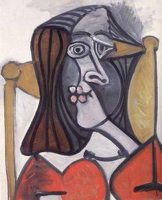 """Pablo Picasso (1881-1973) """"Femme au Fauteuil"""" 1949 Oil on Canvas"""