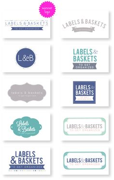 Logo sketches Labels & Baskets, design by Studio Sjoesjoe