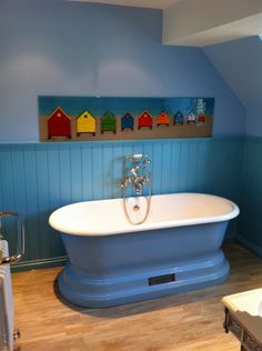 CHADDER Churchill Bath in blue