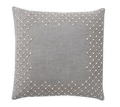 Embellished Monogrammable Pillow #potterybarn