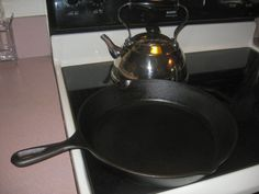 This is my favorite way to season cast iron - it works great!  It's time to re-do one of my pans so I had to find the link.