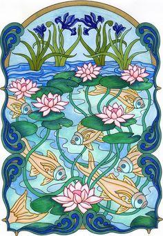 Amazon.com: BellaBella by the sea ~~~'s review of Dover Creative Haven Art Nouveau Animal De...