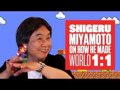 For anybody who hasn't seen this an amazing video where Miyamoto And Tezuka Sans explain how they though through the design of in Super Mario Brothers (a master-class in how to think about level design) Shigeru Miyamoto, Super Mario Brothers, World 1, Master Class, Things To Think About, Nintendo, San, Youtube, Design