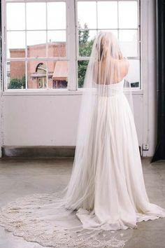 Sara Gabriel Moira veil | Luxe veil with hand embroidery + Swarovski crystals