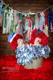 Raggedy Ann and Andy babies