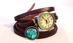 Skórzany zegarek Drzewo nadziei, 0605WDB6 - EgginEgg - Zegarki