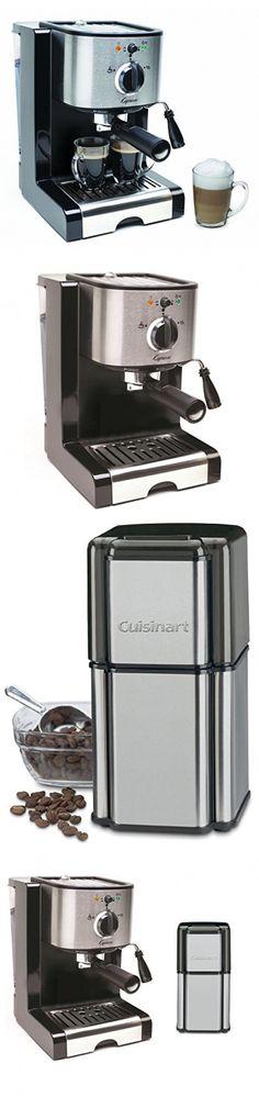 Capresso EC100 Pump Espresso and Cappuccino Machine with Cuisinart Grind Central Coffee Grinder