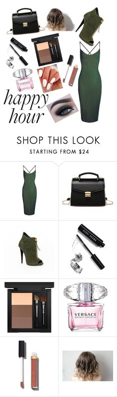 """Green outfit"" by ocouisin ❤ liked on Polyvore featuring Boohoo, Bobbi Brown Cosmetics, MAC Cosmetics, Versace, Chanel and Too Faced Cosmetics"