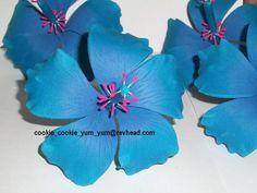 edible hibiscus cake decoration flowers Hibiscus Cake, Luau Theme, Luau Birthday, Cookie Ideas, Hawaiian, Cake Decorating, Decoration, Party, Flowers