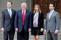 Trump Family Born to millionaire parents Donald and Ivana Trump, Donald, Jr., Ivanka and Eric are keeping their business ventures all in the family by working for their father's Trump Organization.