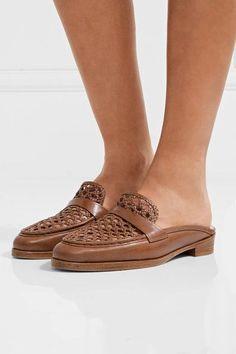 Alexandre Birman - Alexa Woven Leather Loafers - Light brown - IT