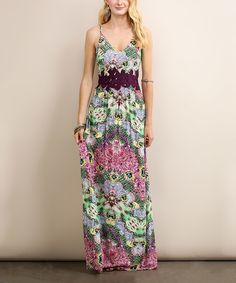 ef1561177358 Loving this Soiéblu Coral Abstract Maxi Dress on #zulily! #zulilyfinds  Unique Dresses,