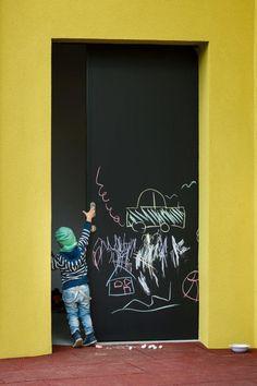 Šmartno Kindergarten designed by Jure Kotnik | blackboard doors